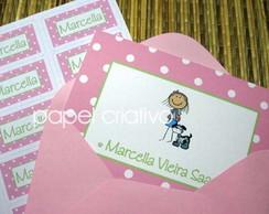 Cart�o Personalizado - menina pink