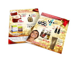 Panfleto Natal Yes! Cosmetics