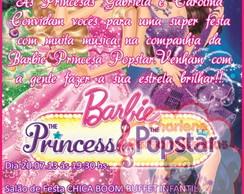 Convite Barbie Pop Star