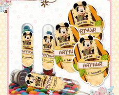 R�tulo Tubete Mickey Safari