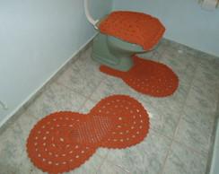 Jogo de banheiro em croch� de barbante.