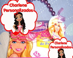 Convite Bolsinha Barbie Esc.Princesas