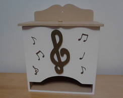Porta Fraldas Notas Musicais