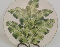 Prato Decorativo Folhagem Bananeira