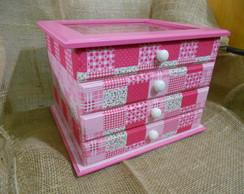 Porta J�ia - Patchwork rosa