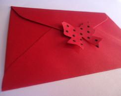 Convite Minnie com Aplique 3D