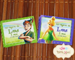 R�tulo Maletinha-Tinker Bell e Peter Pan