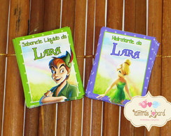 R�tulo 5x4 - Tinker Bell E Peter Pan