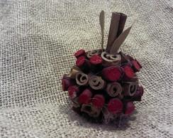 Laranja Canela Com vime vermelho Mini