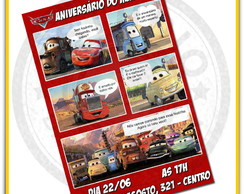 Arte Convite Anivers�rio Carros Disney