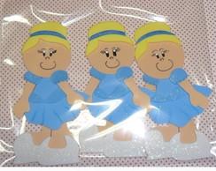 Boneca Cinderela plana pacote com 3 unid