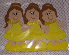 Boneca Bela Plana pacote com 3 unidades