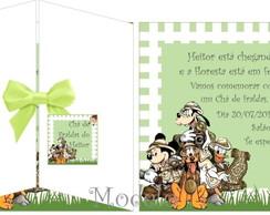 Convite Ch� De Fraldas Safari Mickey