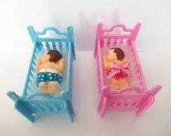 Mini ber�o com beb� de biscuti