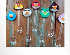 Colherinhas decoradas angry birds