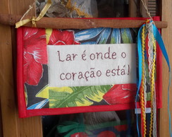 MIni-pan� com frases bordada � m�o