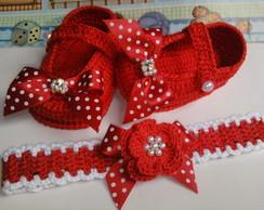 Sapatinho Isabella+ faixa de croch�