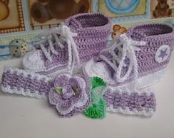 Tenis star  Baby lil�s + Faixa De Cabe�a