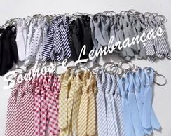 Gravatinhas c/ chaveiro - 50 unidades