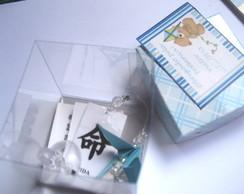 Tsuru com kanji + caixa de acetato