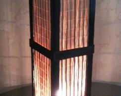 abajur lumin�ria japones r�stico medio