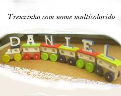 Trenzinho Com Nome Multicolorido