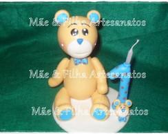 Urso Marrom e Azul com Gravata