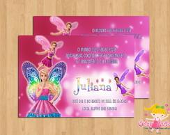 Convite Barbie e O segredo das Fadas