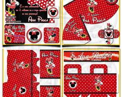 Artes Kit Festa Infantil Minnie Vermelha