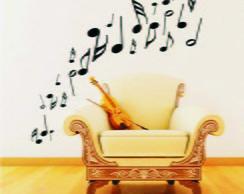 Adesivo De Parede Musical Notas Musicais