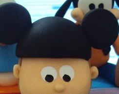 Topo de bolo Menino Mickey em Biscuit