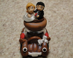 Potinho casal de noivinhos
