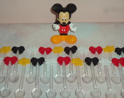 Mini colheres mickey e minnie - 40 pe�as