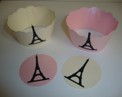 Wrappers Para Cupcakes E Toppers Kit 12
