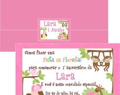Convite Safari Rosa