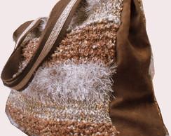 Handbag Tricot Marrom
