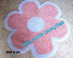 Tapete Flor rosa e branco