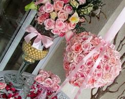 Kit guirlanda & taca & vasos rosa I
