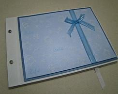 Livro do Beb� Met�lico Azul