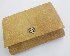 Clutch Gliter Dourado