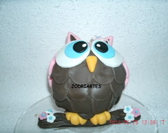Topo coruja em biscuit