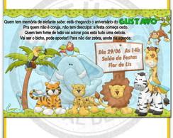 Arte Convite Anivers�rio Safari 04
