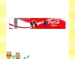R�tulo Coca- Cola - Homem Aranha