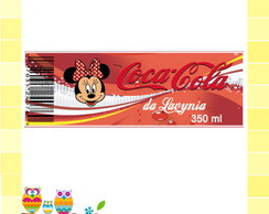 R�tulo Coca- Cola - Minnie