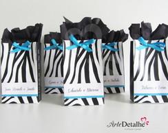 Mini Sacolinha Convite Zebra