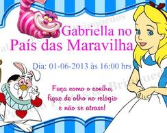 Convite Alice no pais das Maravilha