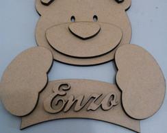 Porta Maternidade Urso 3D Mdf