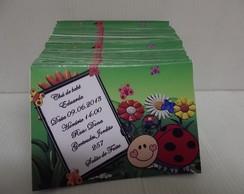 Convite joaninha com envelope