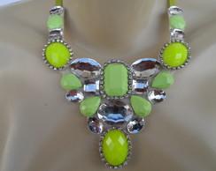Maxi colar Verde de Pedras
