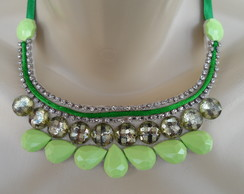 Maxi colar Verde de Chatom